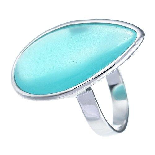 JV Кольцо с ювелирным стеклом из серебра B3200-US-010-WG, размер 17 фото
