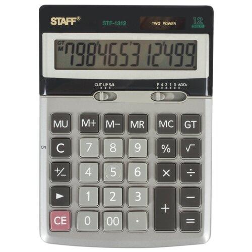 Калькулятор бухгалтерский STAFF STF-1312 металлик