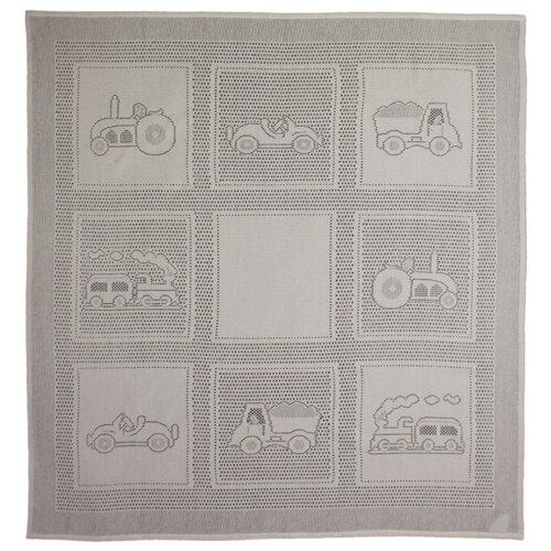 Купить Плед MYB Car Squares 97х107 см в подарочной упаковке слоновая кость, Покрывала, подушки, одеяла