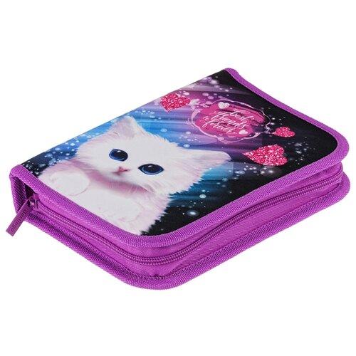 Купить Berlingo Пенал Cosmo cat (PK05944) розовый/синий, Пеналы