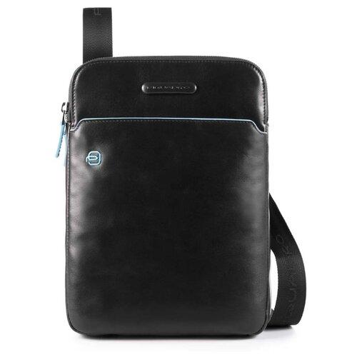 Сумка планшет PIQUADRO Blue Square (CA3978B2), натуральная кожа, черный