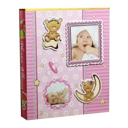 Фотоальбом Сима-ленд Малышок, 400 фото, для формата 10 х 15, розовый