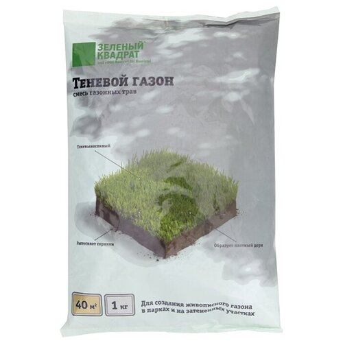 Смесь семян Зеленый квадрат Теневой газон, 1 кг