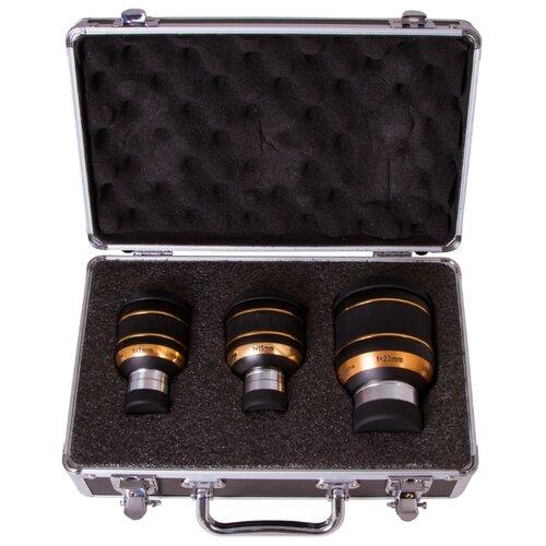 Фото - Окуляр Sky-Watcher UWA 82° 7 мм, 15 мм, 23 мм, 70497 черный/золотистый кольца крепежные sky watcher для рефлекторов 200 мм внутренний диаметр 235 мм
