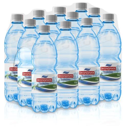 Вода минеральная Окололуга негазированная, пластик, 12 шт. по 0.6 л