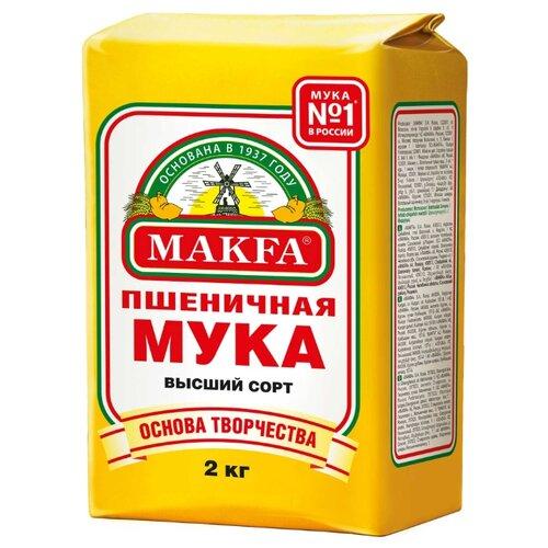 Фото - Мука Макфа Пшеничная высший сорт, бумажный пакет 2 кг макфа макароны перья