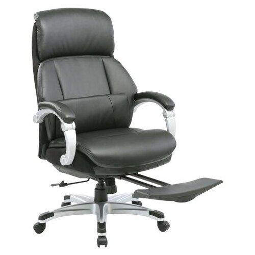 Кресло для руководителя Бюрократ Бюрократ Miro, обивка: искусственная кожа, цвет: рециклированная кожа черная