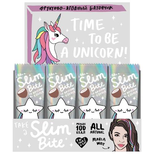 Фруктовый батончик Slim Bite Box Unicorn без сахара Кокос, 30 шт