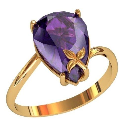 Фото - Приволжский Ювелир Кольцо с 1 алпанитом из серебра с позолотой 252185-FA67, размер 18 приволжский ювелир кольцо с 1 алпанитом из серебра с позолотой 272158 fa77 размер 18