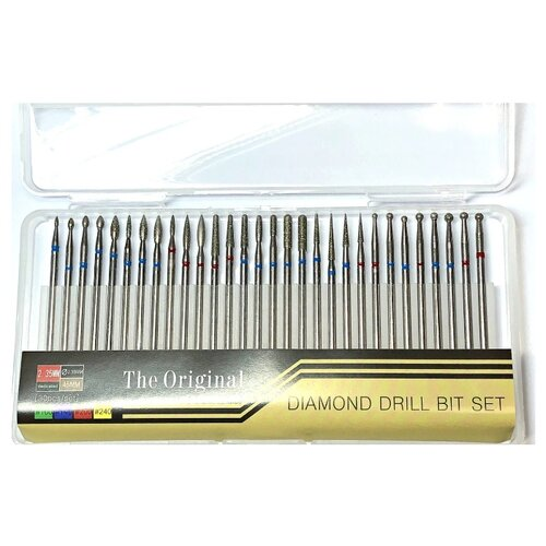 Набор фрез ICE NOVA алмазных The Original Diamond Drill Bit Set, 30 шт металл
