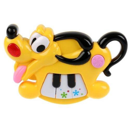 развивающая игрушка умка обучающее пианино м дружинина разноцветный Развивающая игрушка Умка Музыкальный щенок с пианино, желтый