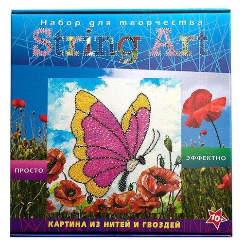 Купить Волшебная Мастерская Набор для творчества в технике String art Бабочка (ST-03), Поделки и аппликации