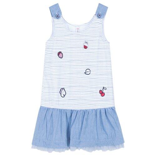 Сарафан COCCODRILLO HELLO SWEETIE размер 74, голубой бриджи coccodrillo hello sweetie w19122301hel размер 86 розовый