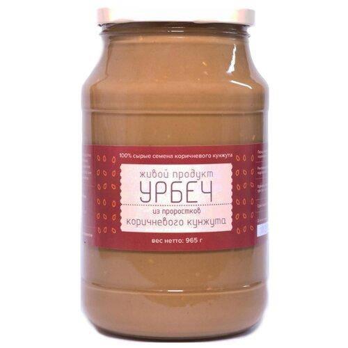 Живой Продукт Урбеч из проростков семян коричневого кунжута 965 г живой а спартанец