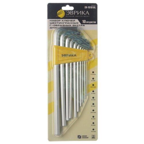 Набор имбусовых ключей Эврика (10 предм.) ER-15101XL желтый