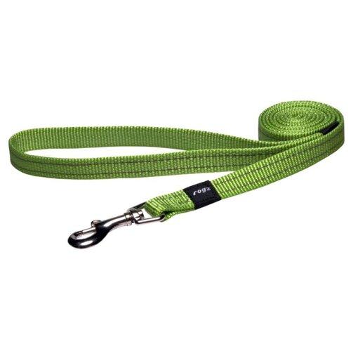 Поводок для собак Rogz Utility Snake M lime 1.4 м 16 мм