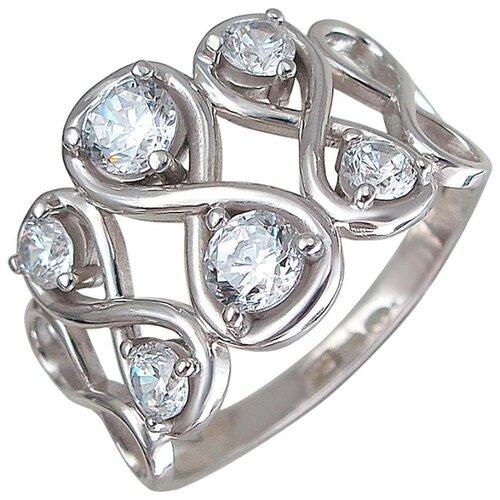 Эстет Кольцо с 8 фианитами из серебра 01К1510401, размер 17.5 ЭСТЕТ