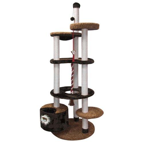 Игровой комплекс Зооник 22219 96 х 84 х 221 см коричневый игровой коврик dwinguler medium 12 dino land двусторонний 190 х 130 см