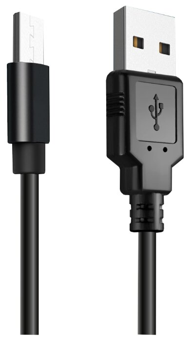 Кабель Ginzzu USB - microUSB (GC-401B) 1 м черный фото 1