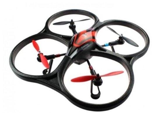 Квадрокоптер WL Toys V393 FPV черный/красный фото 1