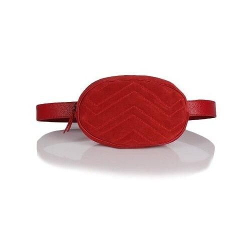 Сумка поясная Galanteya, натуральная кожа, красный сумка поясная dimanche натуральная кожа металлик