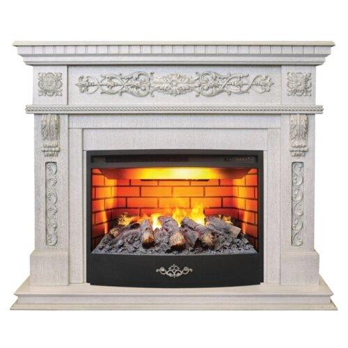 Электрический камин RealFlame Estella 25,5/26 + Firestar 25,5 3D белый дуб с патиной электрический камин realflame kellie 25 5 26 firestar 25 5 3d белый камень