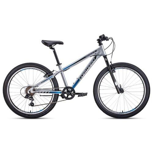 Подростковый горный (MTB) велосипед FORWARD Twister 24 1.0 (2020) серый/черный 13