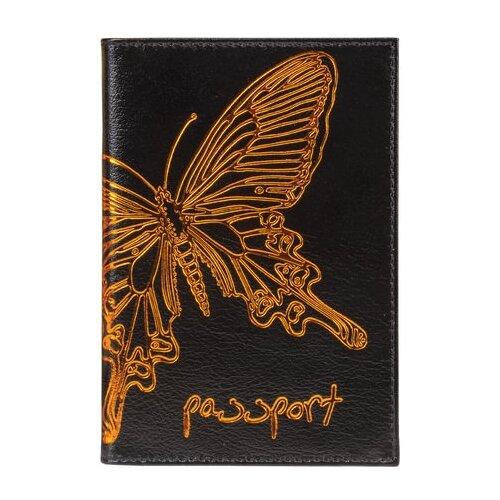 Фото - Обложка для паспорта Befler Бабочка O.14.-11, черный befler v 34 1 red