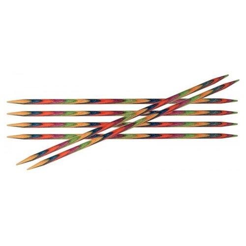 Купить Спицы Knit Pro Symfonie 20103, диаметр 2.5 мм, длина 15 см, красный/синий/желтый