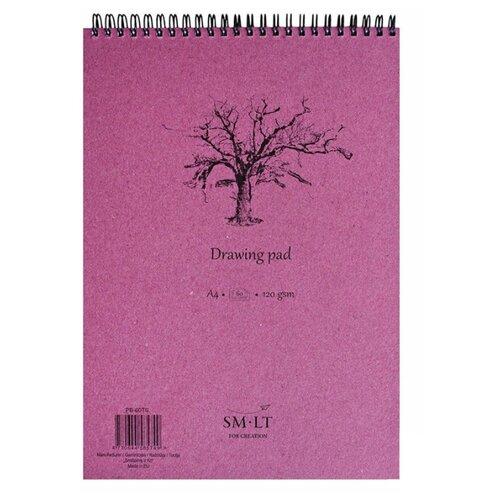 Купить Альбом для эскизов Smiltainis Drawing pad 29.7 х 21 см (A4), 120 г/м², 60 л., Альбомы для рисования