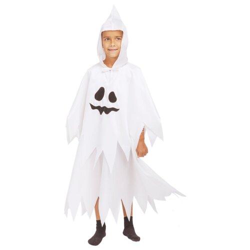 Купить Костюм пуговка Привидение (2056 к-19), белый, размер 128, Карнавальные костюмы