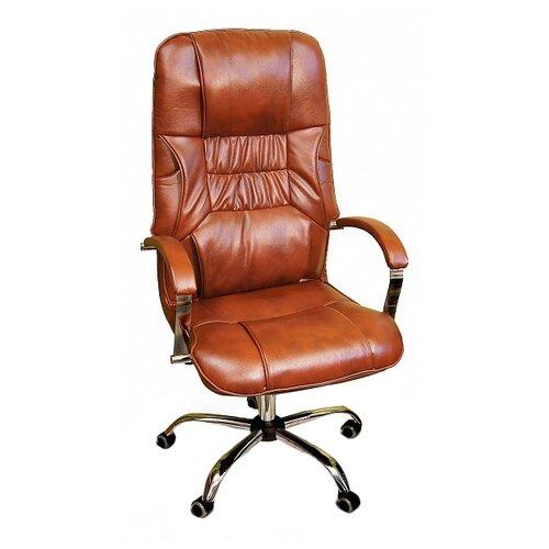 цена на Компьютерное кресло Креслов Бридж КВ-14-131112 для руководителя, обивка: искусственная кожа, цвет: Виски