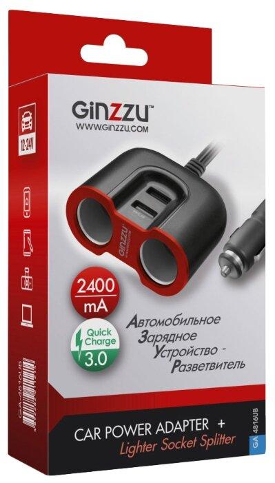 Автомобильная зарядка Ginzzu GA-4816UB