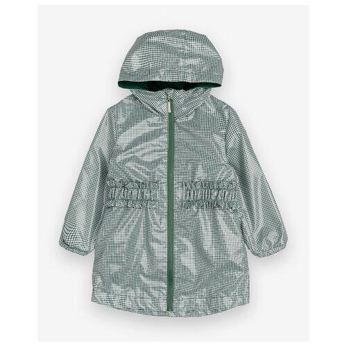 Купить Плащ Gulliver 12002GMC4401 размер 116, зеленый в клетку, Пальто и плащи