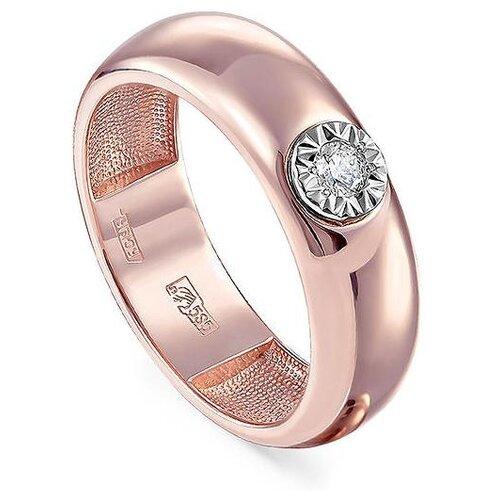 Фото - KABAROVSKY Кольцо с 1 бриллиантом из красного золота 11-31163-1000, размер 18 kabarovsky кольцо с 1 бриллиантом из жёлтого золота 11 2999 1000 размер 18