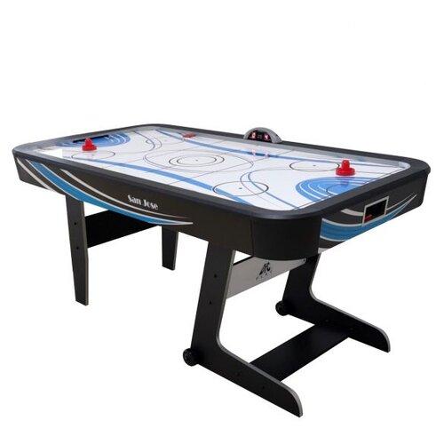 Фото - Игровой стол для аэрохоккея DFC San Jose 72 JG-AT-17208 черный игровой стол для аэрохоккея dfc baltimor ds at 09 красный черный