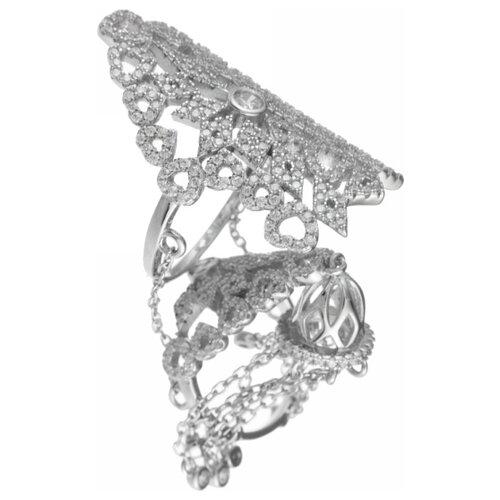 JV Кольцо с фианитами из серебра R25193-R-001-WG, размер 17 jv кольцо с фианитами из серебра r25193 r 001 wg размер 17