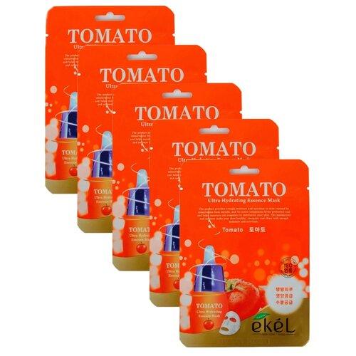 цена на Ekel Маска тканевая Ultra Hydrating Essence Mask с экстрактом томата, 25 мл, 5 шт.