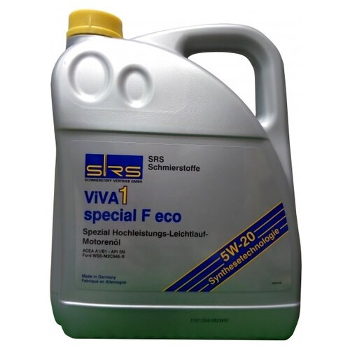 Моторное масло SRS VIVA 1 Special F Eco 5W-20 5 л