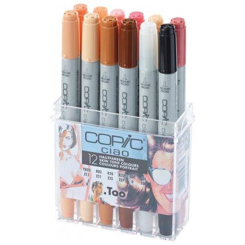 Купить COPIC набор маркеров Ciao Skin Tone (H22075-705), 12 шт., Фломастеры и маркеры