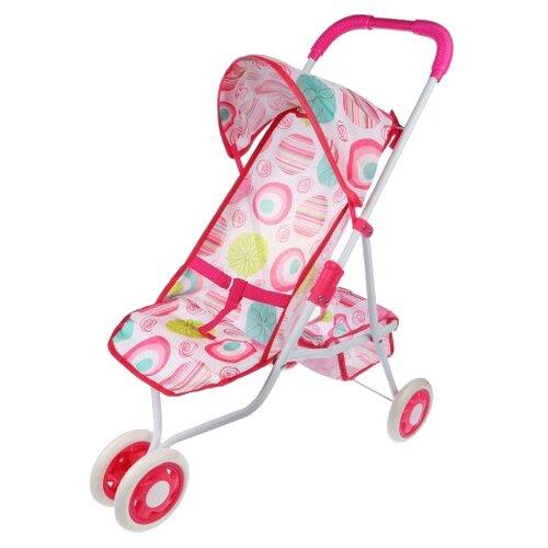 Прогулочная коляска Наша игрушка Герда M0301-5 розовый игрушка наша игрушка бульдозер 6655 5