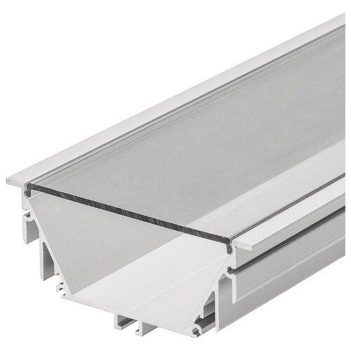 Комплект (профиль, рассеиватель) Arlight ALU-POWER-RW80F-2000ANOD+CLEAR-P серый профиль arlight alu power w35s 2000 anod frost серый