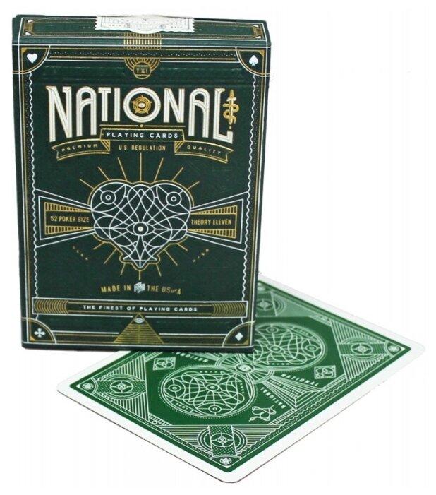 Карты для покера Theory 11 Green National