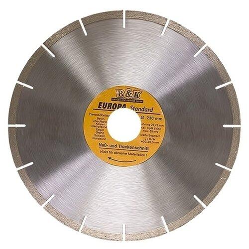 Диск алмазный отрезной 230x3x22.2 Sparta Europa Standard 73171 1 шт. диск алмазный отрезной сегментный sparta europa standard сухая резка 230 х 22 2 мм