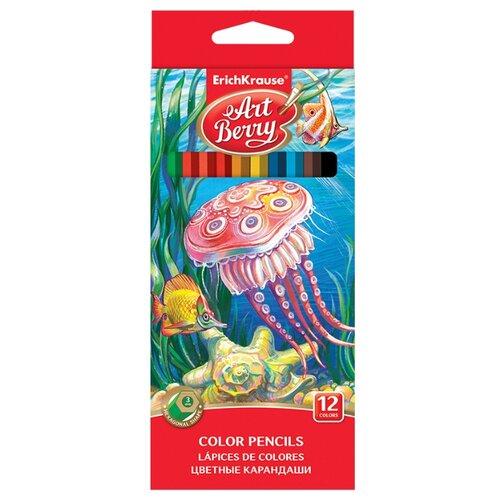 ErichKrause Цветные карандаши ArtBerry 12 цветов (32878) erichkrause пластиковые цветные карандаши шестигранные artberry 18 цветов 46429