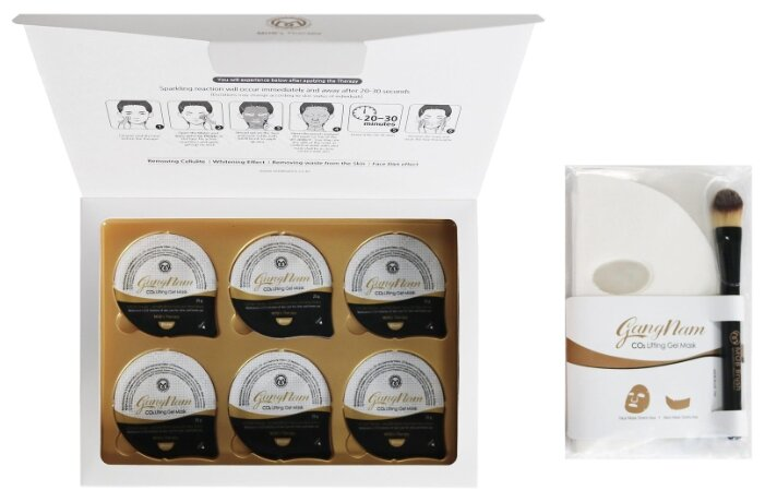GangNam маска для карбокситерапии GangNam CO2 Lifting Gel Mask на 6 процедур