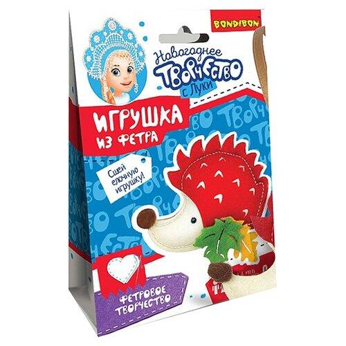 Купить Набор для творчества Ёлочные игрушки из фетра своими руками. Ежик , BONDIBON, Изготовление кукол и игрушек