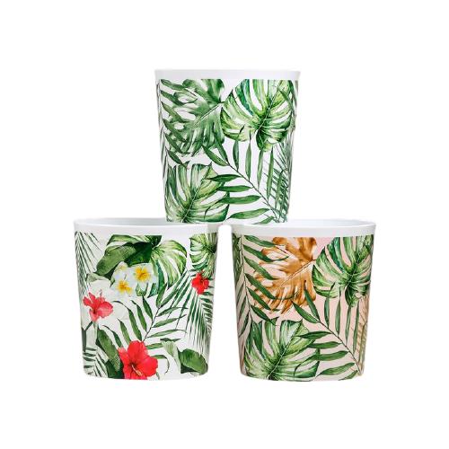 Фото - Кашпо Дарите счастье набор 3 в 1 Тропики 1.6 л белый/зеленый набор кашпо с поддоном для орхидеи 2 в 1 счастье 1 6 л 4762333