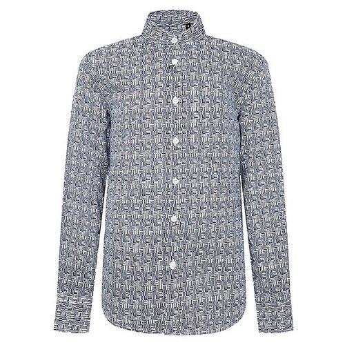 Рубашка Antony Morato размер 174, синий/белый рубашка antony morato mmsl00401 fa430296 7051