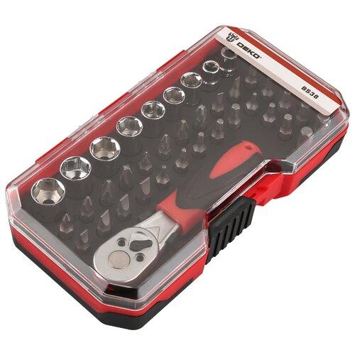 Набор инструментов DEKO (38 предм.) BS38 065-0719 черный/красный ящик для инструментов deko dktb34 065 0839